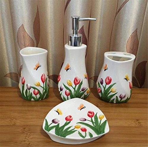 Ceramica 4 pezzi bagno set di accessori per la casa