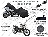 #4: Volga Heavy Duty Bike Body Cover Triple Stitch Dark Grey For Royal Enfield Himalayan