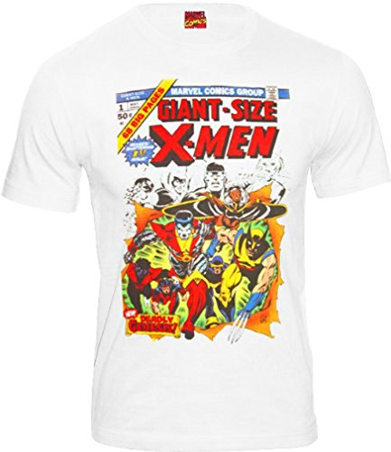 original Marvel Comics Herren T-Shirt GIANT SIZE X-MEN weiß Gr. S-XL CODI (XL) (Giant X-men)