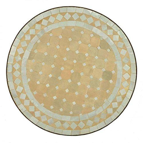 Casa Moro Marokkanischer Mosaiktisch Ø45 cm Weiss
