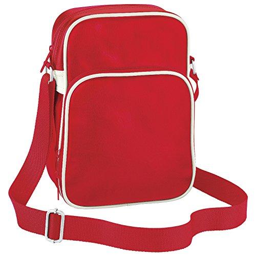 Bagbase Flugzeug-Tasche / Schultertasche, 4 Liter Signalrot/Naturweiß