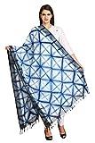 Aksara Indigo Cotton Tie & Dye Dupatta