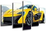 Poster Moderno Fotografico Coche Deportivo, McLaren F1 GT, Amarillo, 165 x 62 cm, ref. PST26555