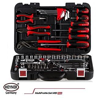 Professionelles Heyner Pro Werkzeug Kit Steckschlüssel Werkzeug Box Set 91PCS Schraube Zubehör