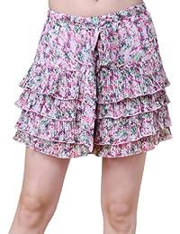 Miss Coquines - Short fleuri à volants - Femme - Shorts