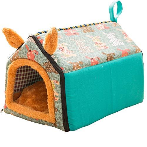 CHUHUI Super süße Katzenstreu Hundehütte Matte Vier Jahreszeiten Universal Katze Schlafsack Katze Matte kleine Hundehütte Katze Zimmer Heimtierbedarf Airdrop Box - Käfig Super Hamster