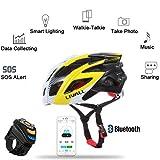 MTB mountainbikehelm Fahrradhelm mit integriertem Bluetooth® Interkom Headset Walkie-Talkie Anruf MIC Blinklicht Unterstützung APP