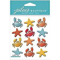 Jolees Boutique-Adesivi tridimensionali, granchi e riprende a forma di stella marina