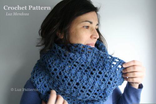Crochet book, crochet pattern, girl women men lace cowl pattern, scarf crochet pattern, crochet cowl pattern (123) snood pattern (English Edition) Lace Cowl