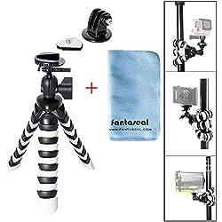 Fantaseal® Mini Trépied Flexible, Trépied Portable, Trépied Multifonctionnel, Trépied Table pour Gopro Trépied pour DSLR Caméra Nikon Canon Pentax Sony Olympus/GoPro Hero7/6/5 DJI Action etc.