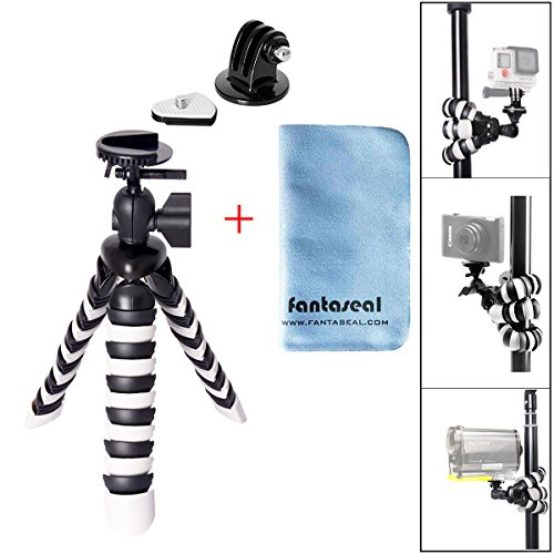 Fantaseal® Robust Octopus Mini Tripod Camera + GoPro Action Cam 2-in-1 Flexible Tripod Mount Outdoor Tripod Table Desk Tripod Travel Portable Tripod Stand w/ Quik Release Plate + Ball Head Compatible for Nikon Canon Pentax Sony Olympus Panasonic DSLR Camera / Camcorder + GoPro Hero 7/6/5/4/3+/3/Session SONY HDR AS-10 15 20 30 50 100 200 AZ-1 FDR X1000VR Garmin Virb XE SJCAM SJ4000 SJ4000WIFI SJ5000 Xiaomi Yi Xiaomi Yi 4K DBPOWER QUMOX ICEFOX Akaso Apeman +etc Action Cam + Trail Camera