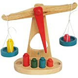 #4: Trinkets & More™ - Beam Balance Weighing Scale | 6 Colourful Weights | Wooden Montessori Toys Kids 3+ Years