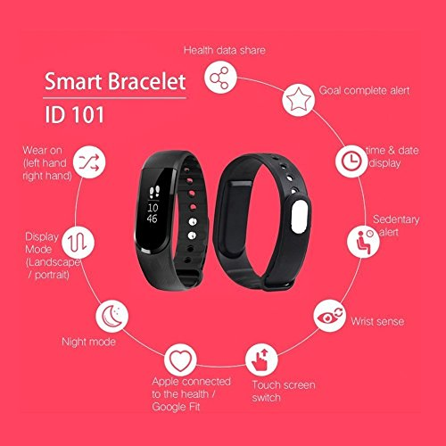 ENHANCE Limited edition ultimate ID 101 Premium Fitness band (Black)