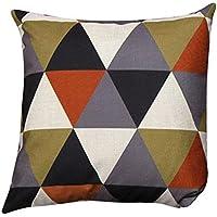esailq geométrico patrón fundas de cojín decorativo almohadas cojines decoración del hogar 45cm x 45cm), Naranja, 45cm x 45cm