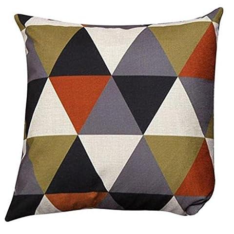 Esailq Motif géométrique Housses de coussin Coussins décoratifs Coussins Home Decor 45cm x 45cm, Orange, 45 x 45 cm
