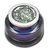 5ml Exclusive Big Glittergel Silber Premium Farbgel RM Beautynails