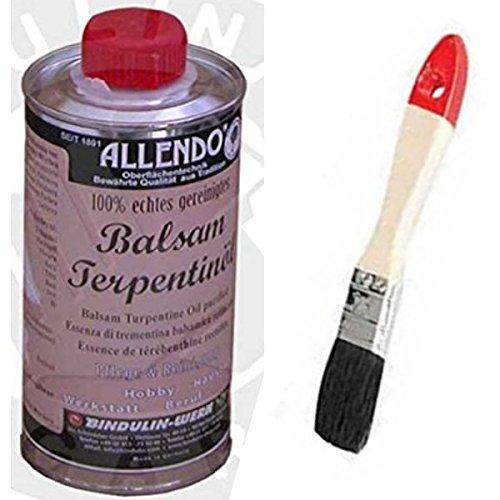 Balsam-Terpentinöl naturreines äther. Kiefernöl mehrfach rektifiziert inkl.1 Pinsel zum Auftragen...