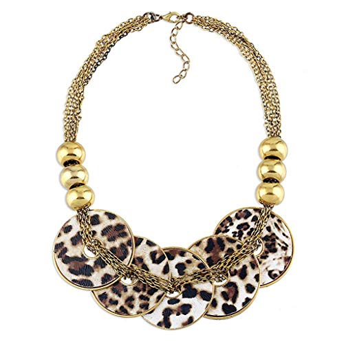 Bestehen Sie immer auf Erfolg Damen Halskette Damen Vintage Stamm Chunky Kragen Halskette Harz Acryl Metall Disc Anhänger Lätzchen Statement Gold Lariat Halskette Multicolor Kostüm Schmuck Set