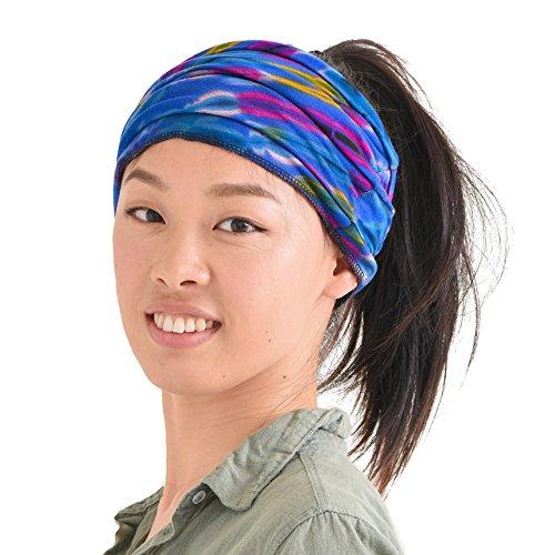 CHARM Casualbox Tie-Dye Stirnband Bandana Boho Hippie retro Blume Psychedelisch 60's C (Männer Für Hippie-stirnbänder)