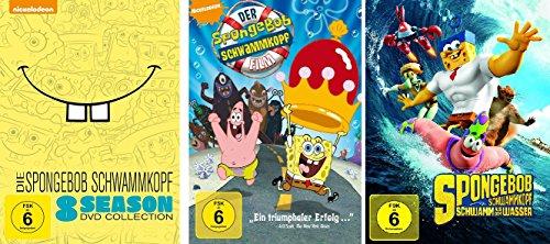 Spongebob Schwammkopf - 8 Season Collection Box + 2 Spielfilme ( der Film + Schwamm aus dem Wasser) im Set - Deutsche Originalware [29 DVDs] (Spongebob Schwammkopf Dvd-box)