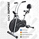 Reach Ab-90 Air Bike Exercise Fitness Cycle with Stationary Handles & Back Support