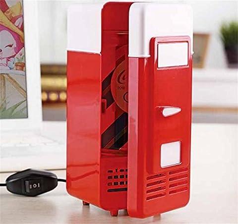 SZXC USB Mini Kühlschrank Heiß und kalt Dual Use Kühlung und Heizung Kleine Kühlschrank Frische Kabinett 12 * 9 * 20cmConvenient
