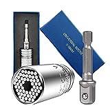 Universal Llave de Vaso - Lambony 7 a 19 mm Pequeño Multifuncional con Adaptador, Adaptador Hexagonal Herramientas de Reparación con Adaptador para Taladro Eléctrico