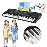 KinshopS 61 Tasten Einsteiger Digital Piano, Home-Keyboards, Electronic Keyboards mit LCD Bildschirm, Netzteil, eingebauten Lautsprechern