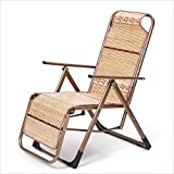 Klappstuhl XIAOYAN Portable Mode Schaukelstuhl Rattan + Edelstahl Lounge Stuhl