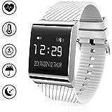 Fitness Tracker, IP67 Wasserdichte Bluetooth Herzfrequenzmesser, Schrittzähler, Gesundheit Smart Watch, Wristband Fitness Monitor, Sleeping Monitor, eingehende Anruf ID und Nachricht Erinnerung Kompatibel mit Android und IOS System Smartphones