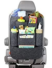 Best Deals - Car Auto Vehicle Back Seat Multi Pocket Travel Storage Small Organizer (Black/Grey/Red)