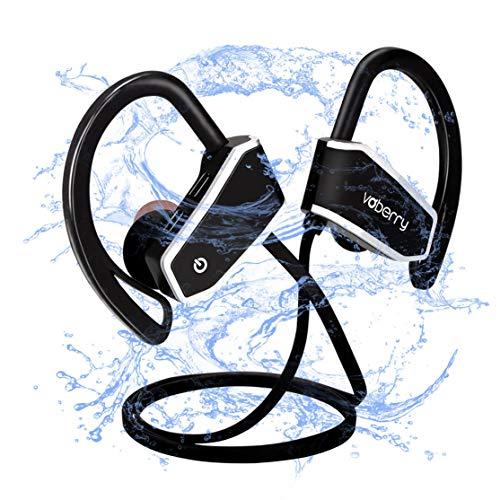 Wireless Bluetooth Kopfhörer, Voberry IPX7 wasserdicht Sport-Ohrhörer, eingebautes Mikrofon, Stereo-Sound, cVc 6.0 Geräuschunterdrückung HD Stereo schweißfest Ohrstecker, sichere Fit In-Ohr-Ohrhörer (Z10)