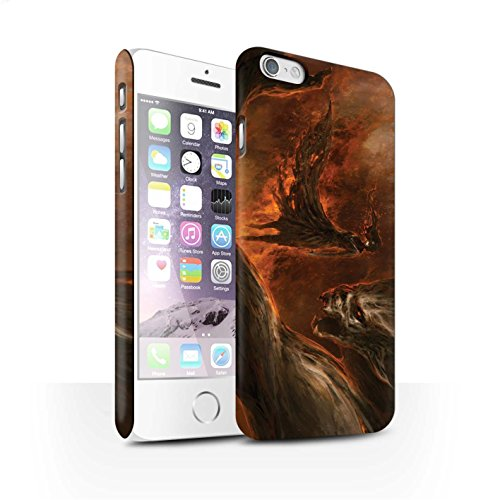 Offiziell Chris Cold Hülle / Matte Snap-On Case für Apple iPhone 6S / Pack 10pcs Muster / Dunkle Kunst Dämon Kollektion Der Anrufer