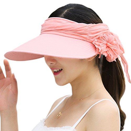 Witery Damen Sonnenhut, wendbar, zusammenklappbar, breiter Hutrand, UPF 50+ Einheitsgröße rose