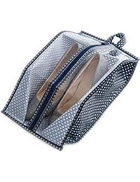 Bolsas de zapatos, Chickwin 10 Pcs accesorios de viaje con la cremallera para los hombres y de las mujeres Cordón a prueba de polvo portátil (Rosa, 10 paquete de tamaño mediano)