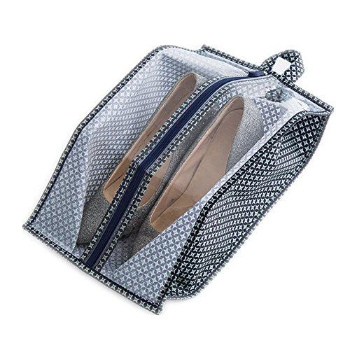 Schuhtasche, Morbuy 1PCS Set Wasserabweisend Schuhbeutel mit Zugband Wasserabweisend Schmutzabweisender Schuhsack Reise Trennung von Schuhen Kleidung Reisezubehör Shoe Boot Bag (21*15*40cm, Blauer Stern) (Snowboard-anzüge Ein Stück)