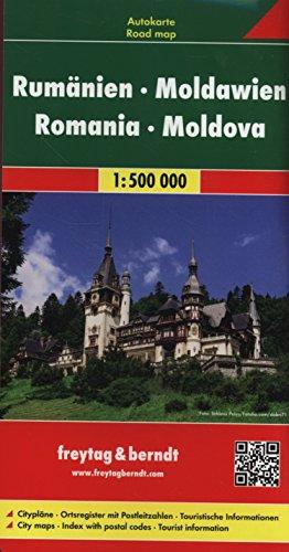 Preisvergleich Produktbild Rumänien - Moldawien, Autokarte 1:500.000, freytag & berndt Auto + Freizeitkarten