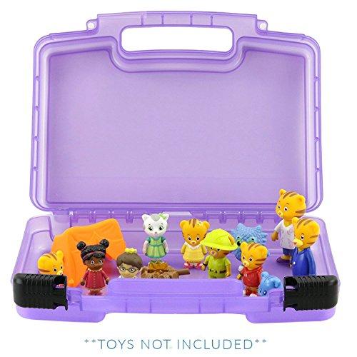 Life made better giocattolo stoccaggio organizzatore - compatibile con daniel tigri quartiere giocattoli-- viola