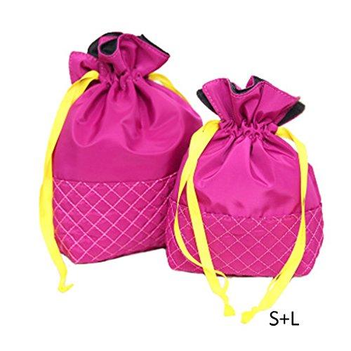 Piccolo sacchetto cosmetico di corsa portatile Semplice grande capacità sacchetto impermeabile di immagazzinaggio del panno del sacchetto di mano ( colore : Viola , dimensioni : #1 ) - Viola Panni