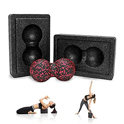 Guard Revival Yoga Block - Yoga Blöcke mit Massageball - für Yoga und Pilates & Fitness - Umweltfreundlich und Leicht -1 PC Yogablock für Anfänger und Fortgeschrittene