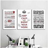Générique Rétro Inspirational Peinture Art Phrase Anglaise Devise Vie Imprimer Affiche Tissu De Soie Image Peintures Murales Moderne Décoration de La Maison50x70cmx3pcs-No Frame...