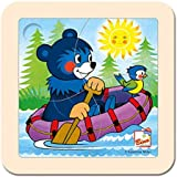 Bino Europe 13201 - Puzle para niños (diseño de oso en barco)