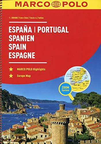 MARCO POLO Reiseatlas Spanien, Portugal 1:300 000: Wegenatlas 1:300 000 (MARCO POLO Reiseatlanten)