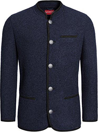 Giesswein Herren Trachtenjacke Jacke Johann, Blau (Nachtblau 514), Large (Herstellergröße: 54)