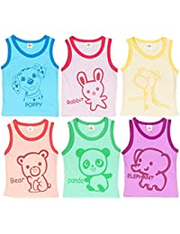Sathiyas Girls Graphics Printed Cotton T-Shirts - Pack of 5 (MC208)