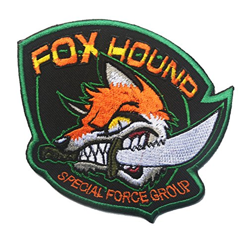 Foxhound Special Forces Group Crazy Fox Ricamato Airsoft Patch Toppa