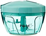 #1: Pigeon New Handy Plastic Chopper with 3 Blades, Green