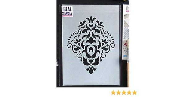 Ideal Stencils Damask stencil, home decorating, wall painting, art craft,  Ltd (S/17X20CM)