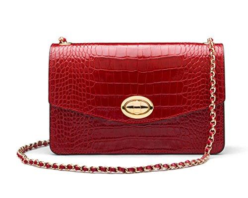 f6ab1fc2fd9d7 SAGEBROWN Julia Bag Red Croc