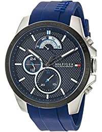 Tommy Hilfiger Men's 'COOL SPORT' Quartz Stainless Steel and Silicone Casual Watch, Color Blue (Model: 1791350)